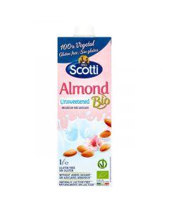 Scotti Organic Almond Drink Unsweetened 1L