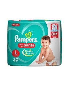 Pampers Diaper Baby Dry Pants Large 30pcs