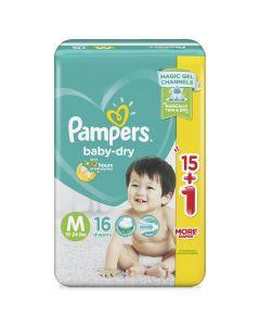 Pampers Diaper Baby Dry Pants Medium 16pcs